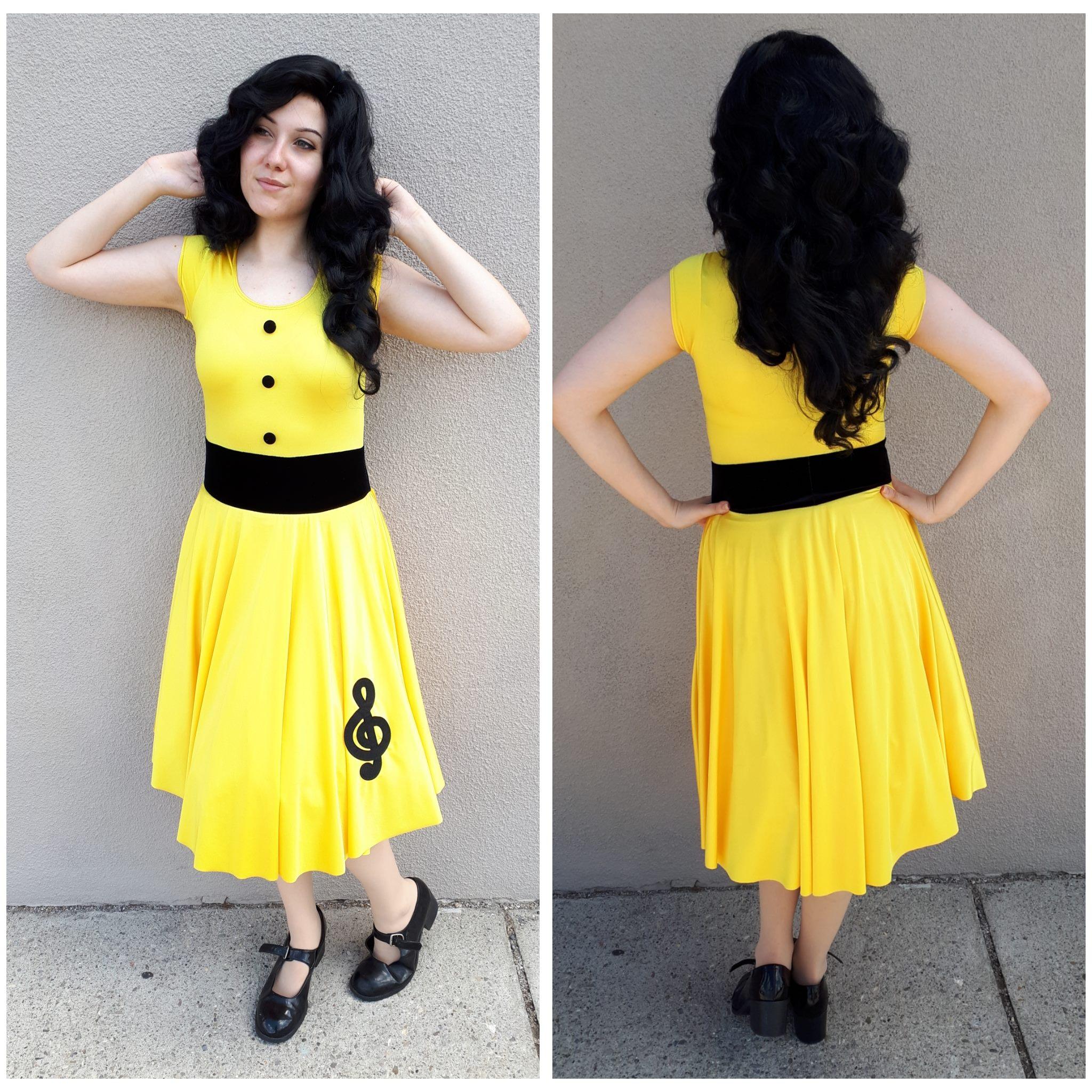 Yellow 50's Dress