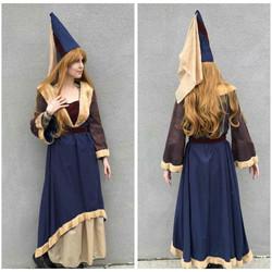 Fur trimmed Medieval Dress