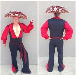 Black & Red Spanish Jump Suit
