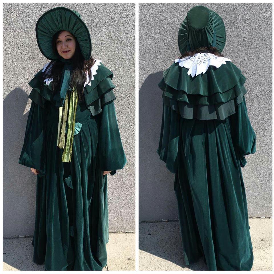 Green Velvet Victorian Dress
