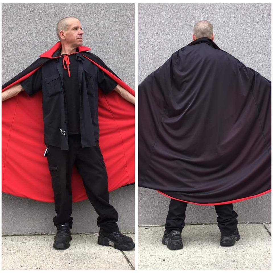 Black Cape w/ Red Lining