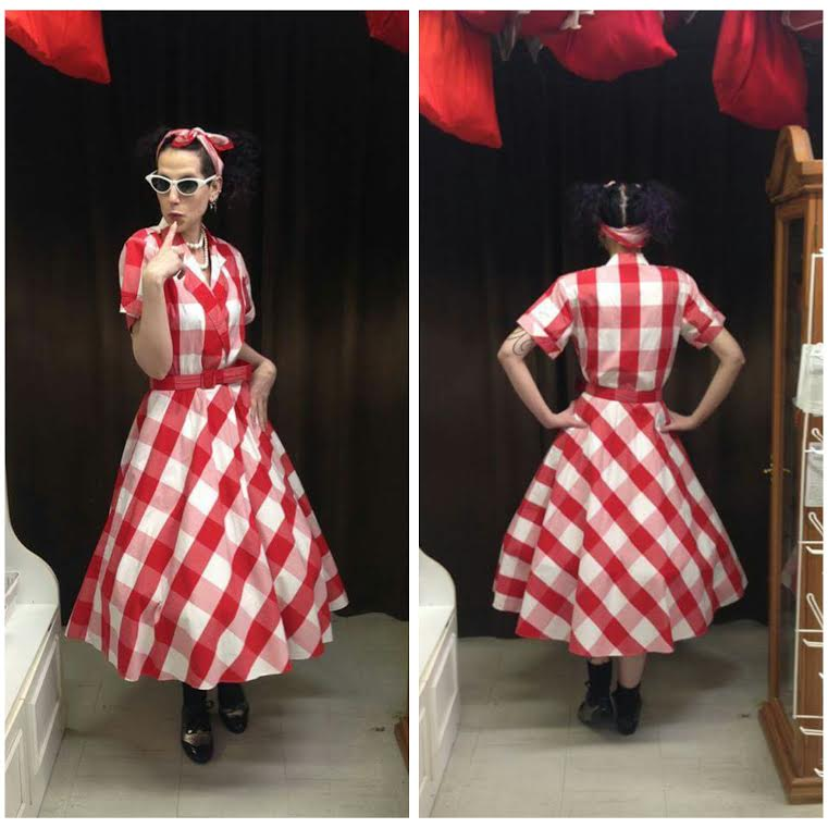 Red & White 50's Dress