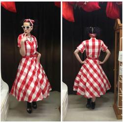 Red & White 50's Dress