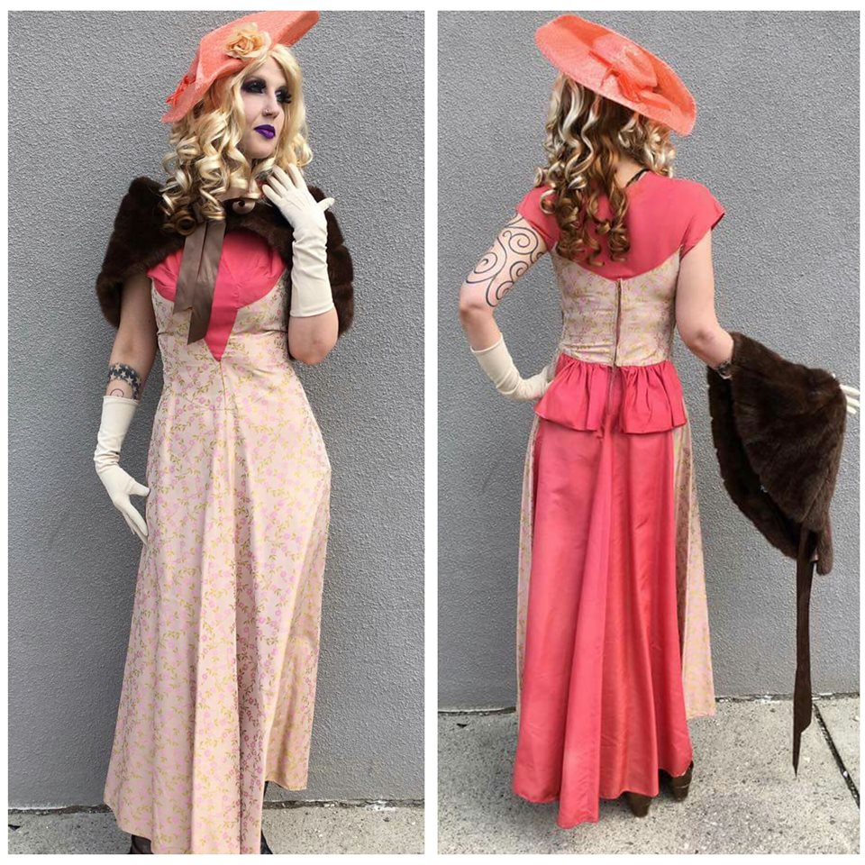 Salmon Floral Victorian