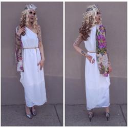 Floral Greek Goddess