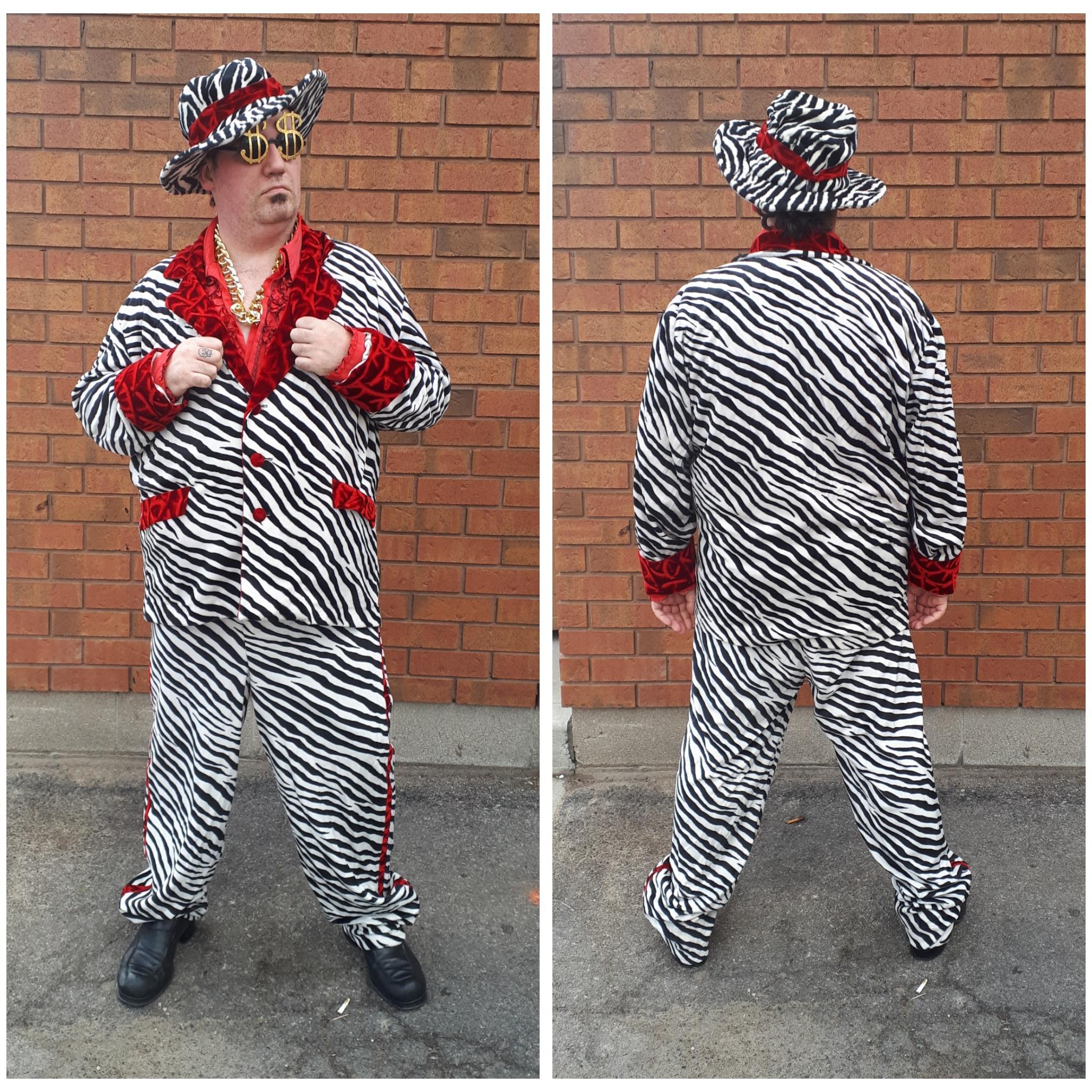 Plus Size Zebra Pimp