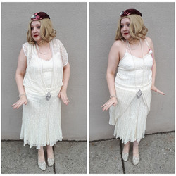 Ivory Lace Flapper