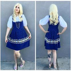 Blue Floral German Girl