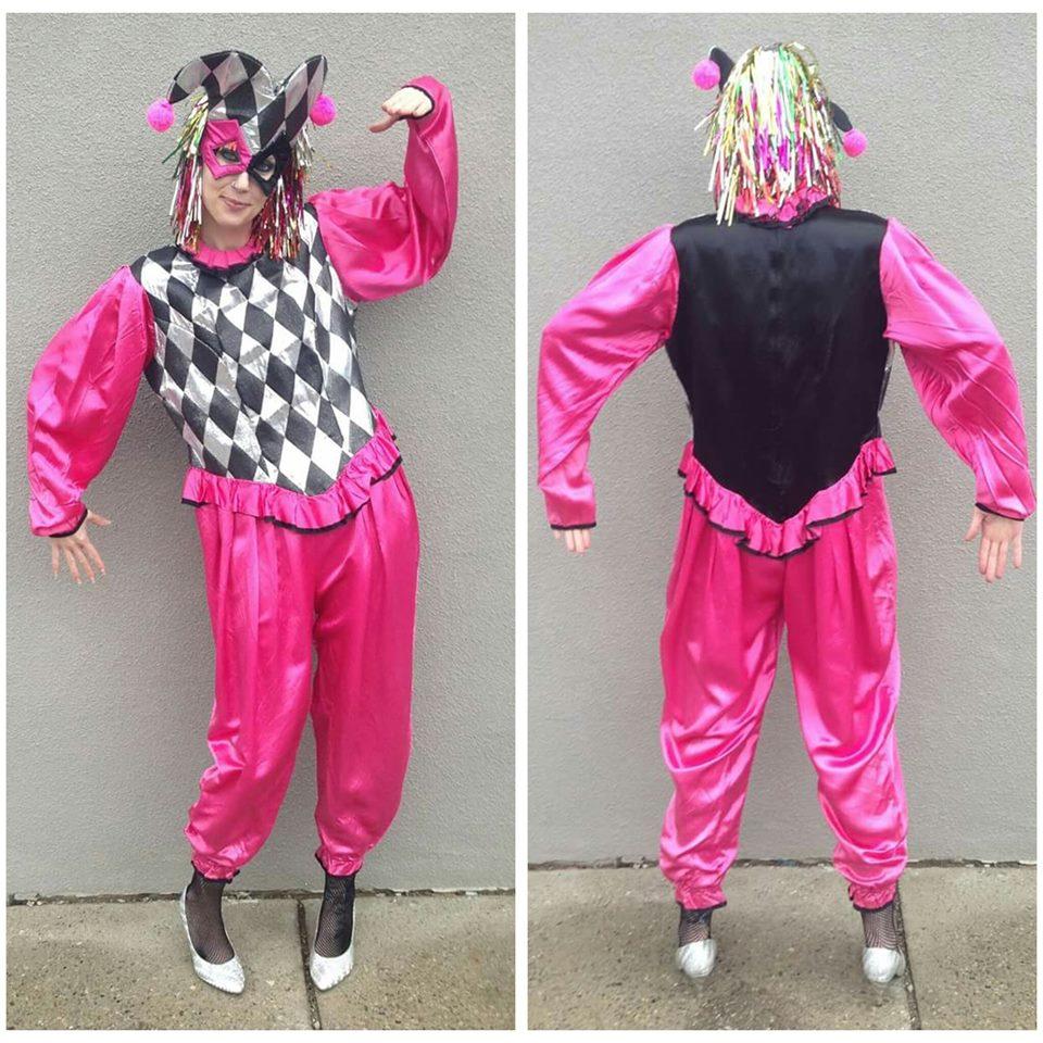Pink, Black & Silver Clown