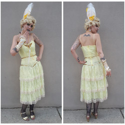 Yellow Lace Flapper