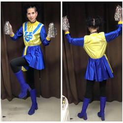 Blue & Yellow Cheerleader