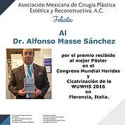 Diploma de Felicitaciones para el Dr. Alfonso Massé Sánchez