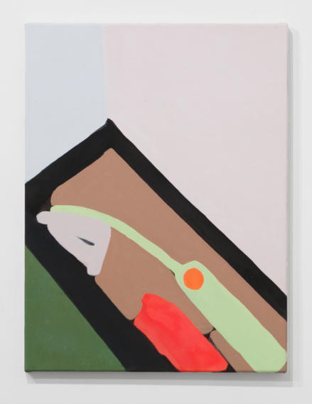 Untitled (On knowing what I think I might want), 2017, acrylic gouache on canvas, 24 x 18 inches.