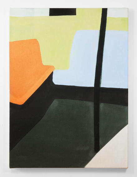 Untitled (On knowing what I think I might want), 2018, acrylic gouache on canvas, 24 x 18 inches.