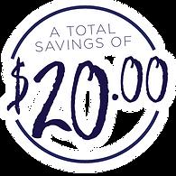 A Total Savings of $20