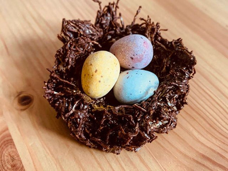 Chocolatey Easter Nests