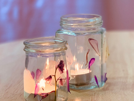Flower Petal Tea Light Lanterns