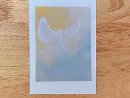 Free Anthroposophical Dove Artwork for Whit Sunday