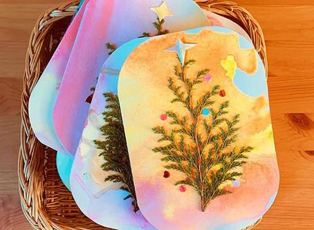 Handmade Waldorf Christmas Cards