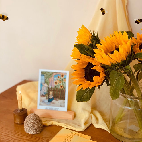 Waldorf Magic ~ August / February ~ Sunflowers and Bees