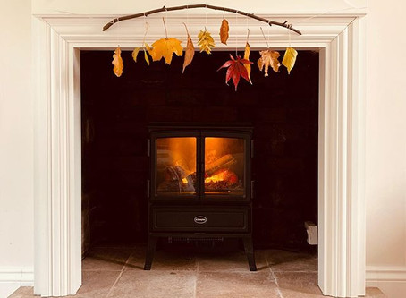 Waxed Autumn Leaf Decoration for the Home