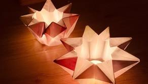 Waldorf Star Waxed Paper Lanterns.