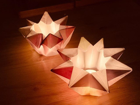 Waldorf Star Waxed Paper Lanterns.