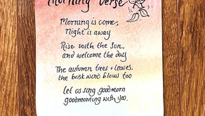 Welcome in the Autumn Mornings with a sweet Waldorf inspired Autumn Verse.