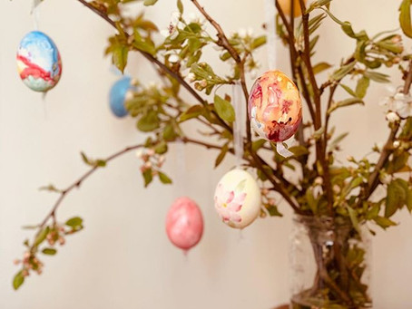 Hand Painted Watercolour Easter Eggs