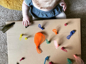 Homemade Baby Game - Peekaboo Scarves.