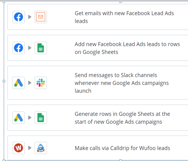 Zapier Facebook lead ads