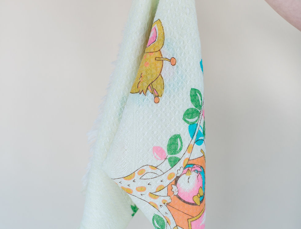 Vintage baby- Soft thin Blanket