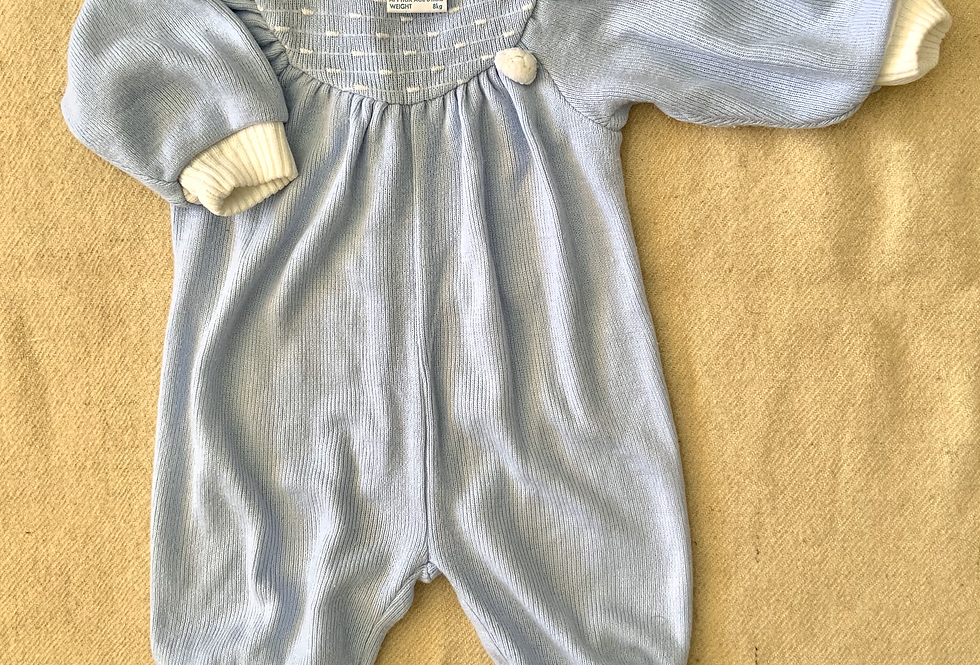 SOLD! Vintage baby-Knit Playsuit