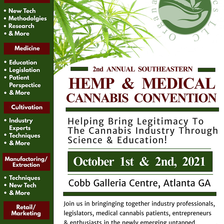 2nd Annual Southeastern Hemp & Medical Cannabis Convention