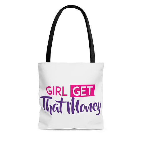 Girl Get That Money AOP Tote Bag