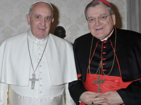 POPE FRANCIS RE-NAMES CARDINAL BURKE TO VATICAN'S HIGHEST COURT