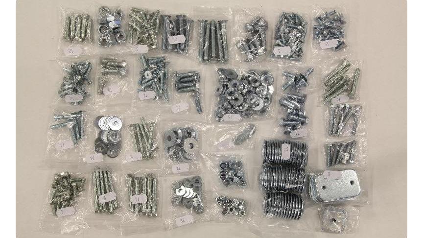 Installation hardware spares kit for skid plates