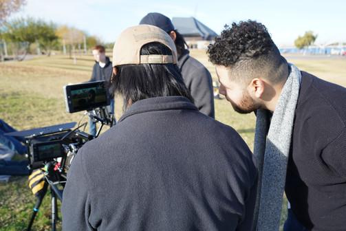 Victor Vargas directing a short film