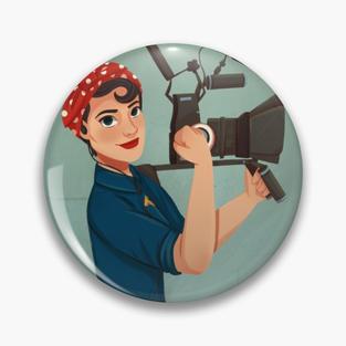 Rosie the Filmmaker Pin
