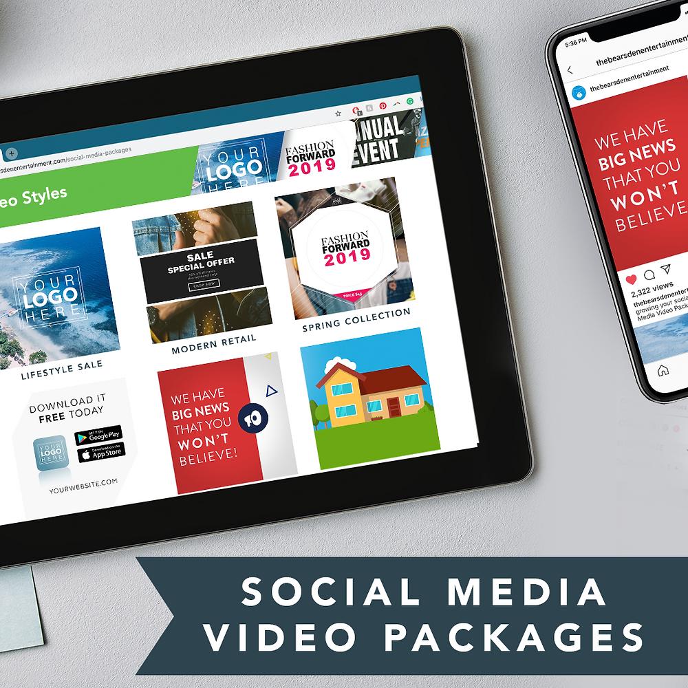 Social Media Video Packages