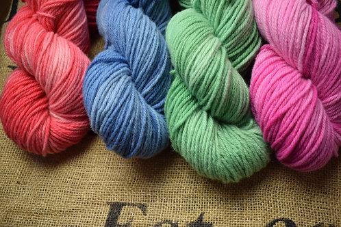 Hand dyed Masham Dk 100g Single Colours