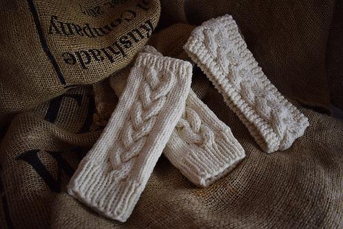 Knitting Pattern - Wrist Warmers and Headband