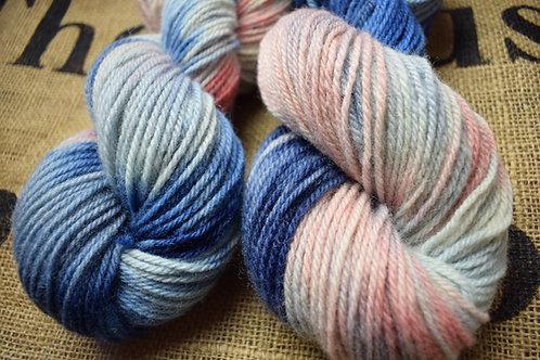 'Sunset' Hand dyed Dartmoor Merino Dk 100g