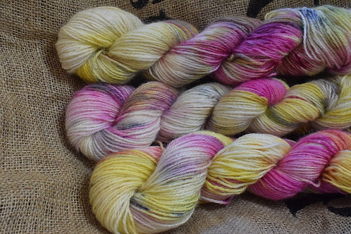 Hand dyed Masham Dk 100g - 'Spring orchid'