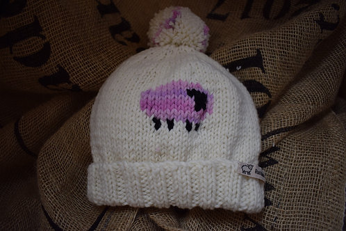 Merino hat - Pink Sheep