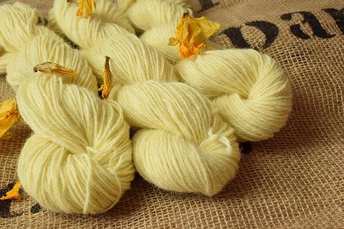 Hand dyed Masham Dk 100g - Daffodil