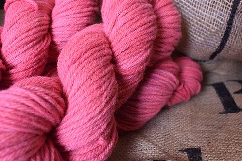 Hand dyed Aran Merino in Blush 100g