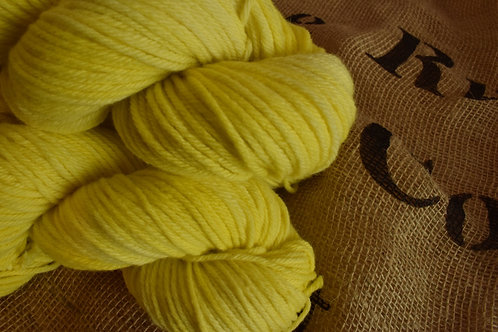 Hand dyed in 'Lemon' Merino Yarn - 100g