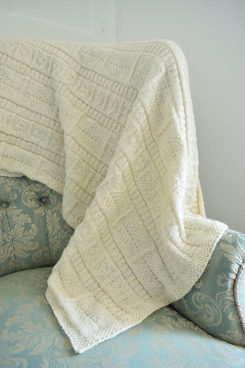 Hand knitted baby blanket in Masham