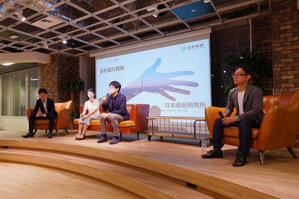 左から、岡部氏、上遠野氏、砂田氏、松田氏